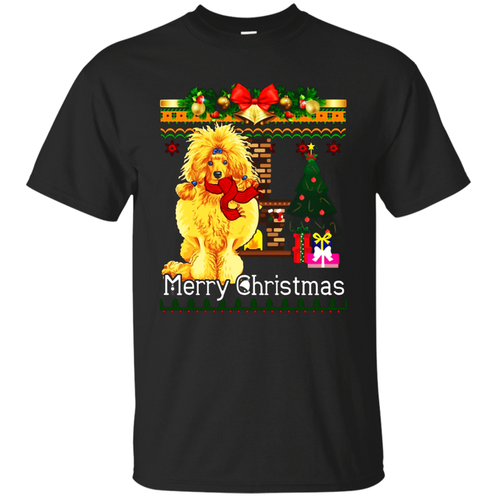 Ugly Christmas Sweater POODLES T-Shirt Funny Dog Shirt