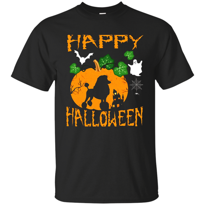 STANDARD POODLE Dog In Pumpkin Happy Halloween Day T-Shirt