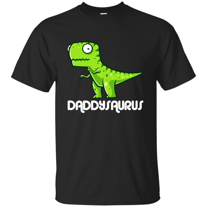 Mens Daddysaurus Funny Dinosaur New First Time Dad Gift T-Shirt