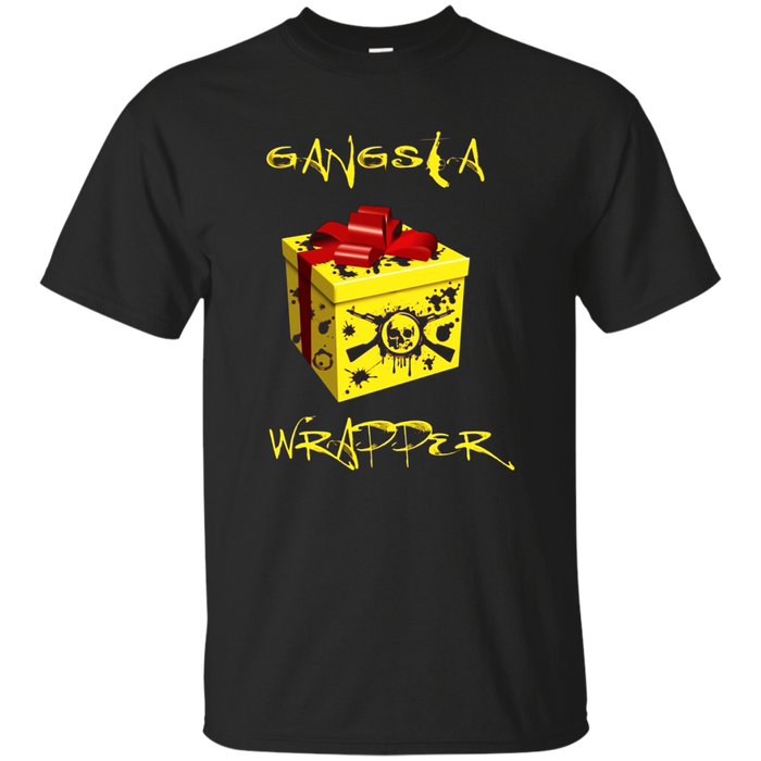 Gangsta Wrapper | Funny Pun T-Shirt Holiday Christmas Gift