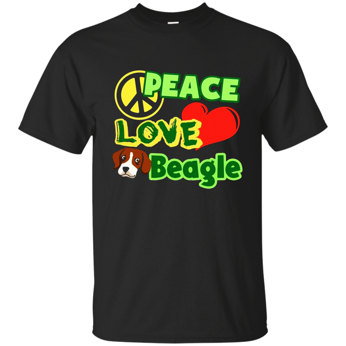 Beagle Shirt - Peace Love Beagle T shirts