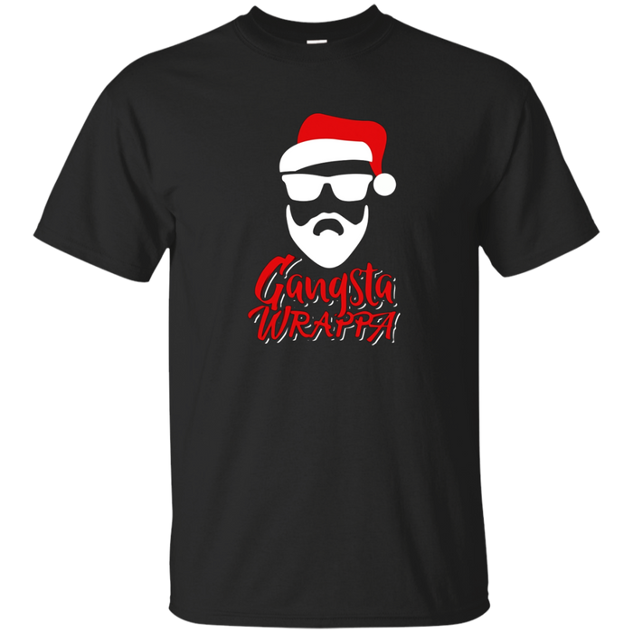 Funny Christmas Pun T-Shirt - Gangsta Wrappa Hiphop Pun