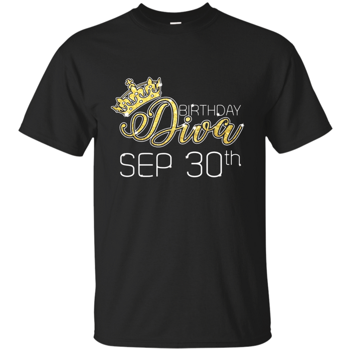 Birthday Diva on September 30th T-shirt Virgo Pride