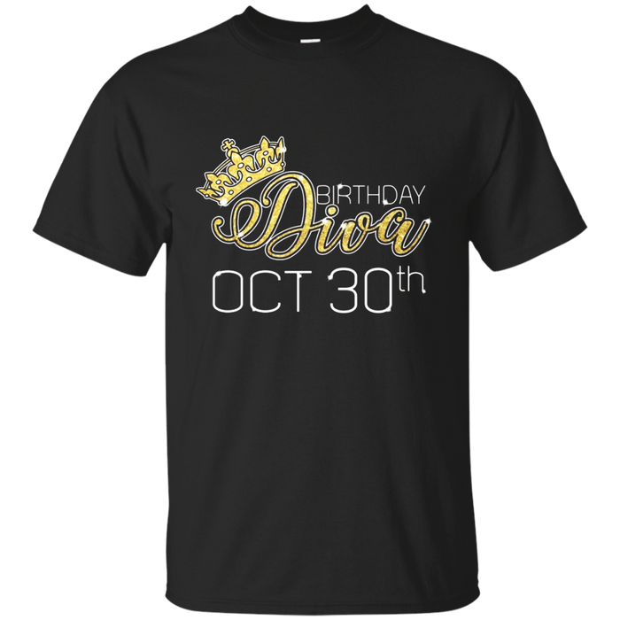 Birthday Diva on October 30th T-shirt Libra Pride