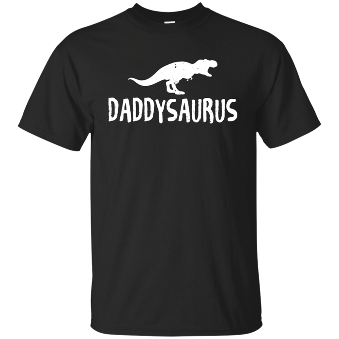 Mens Daddysaurus Shirt Funny Dinosaur First Time Dad Gift Kids
