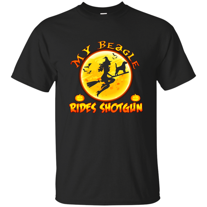 My Beagle Rides Shotgun Halloween Gift T-Shirt
