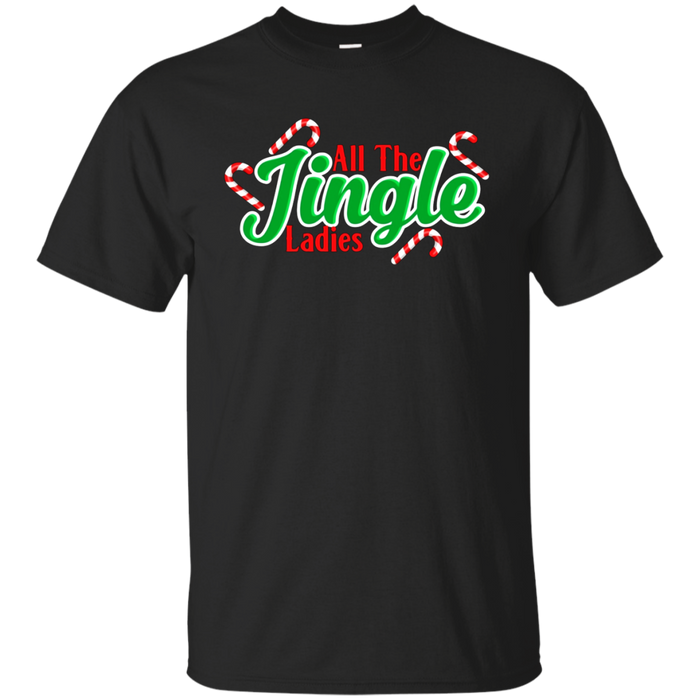 All The Jingle Ladies Funny Christmas Candy Cane Pun TShirt