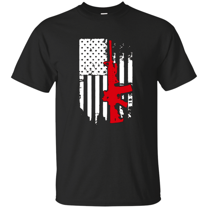 AR 15 American Flag USA Shirt-Funny Guns T-shirts