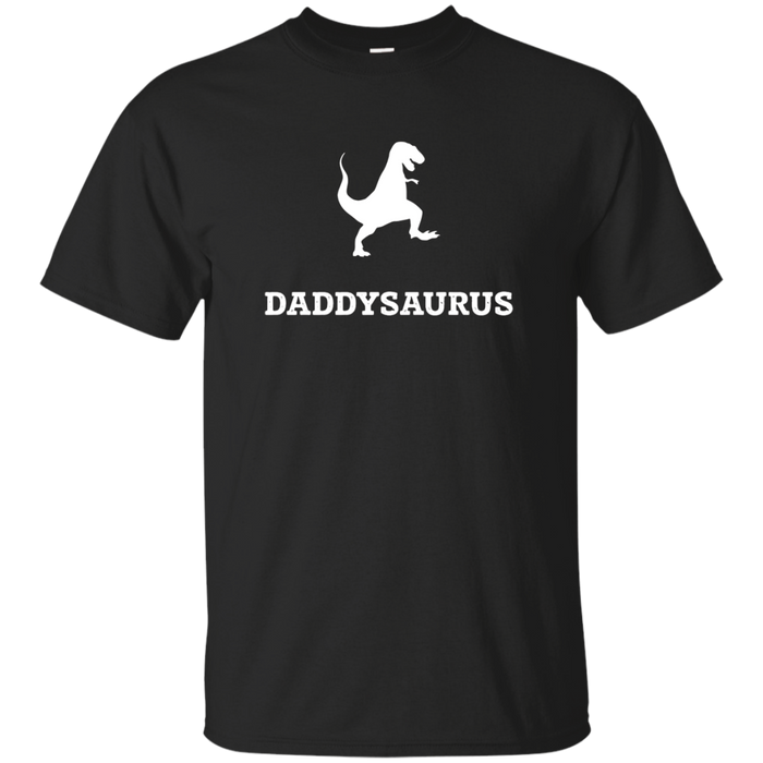 Mens Daddysaurus Cute And Funny Dinosaur New Dad T-Shirt