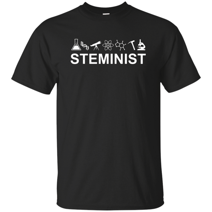 Scientist T shirt for a science march or rally: Steminist!