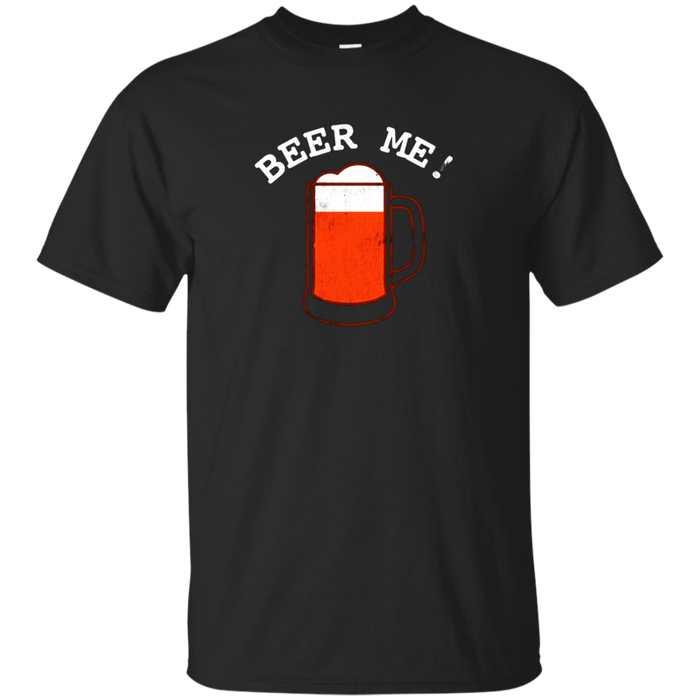 Funny Vintage Drinking Graphic Tee - Beer Me T-Shirt