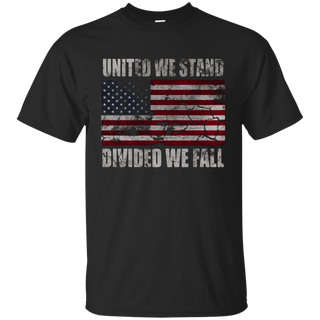 United We Stand Divided We Fall American Flag T Shirt