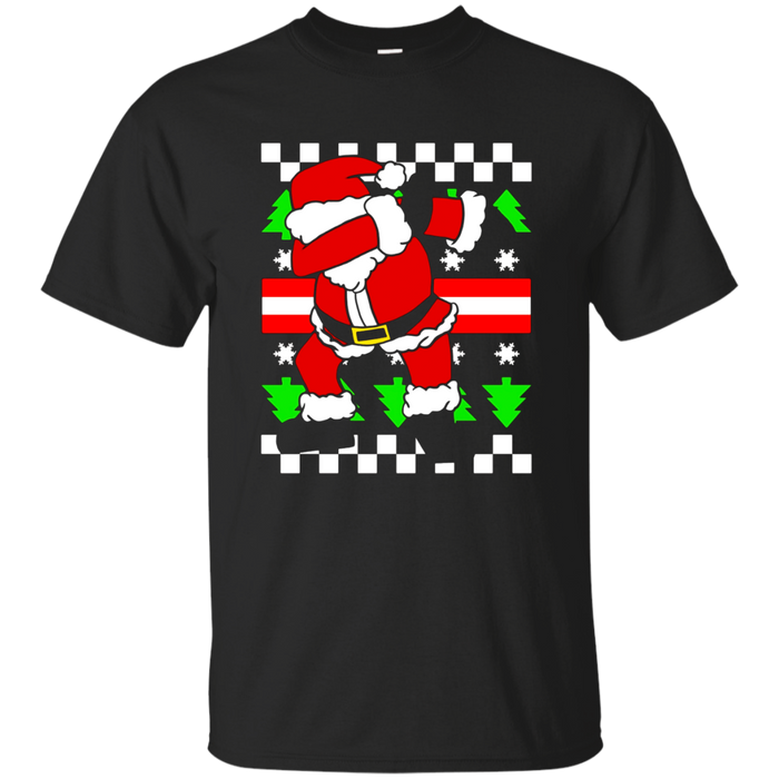 Dabbing Santa Claus Ugly Sweater Funny Christmas Pun T-Shirt