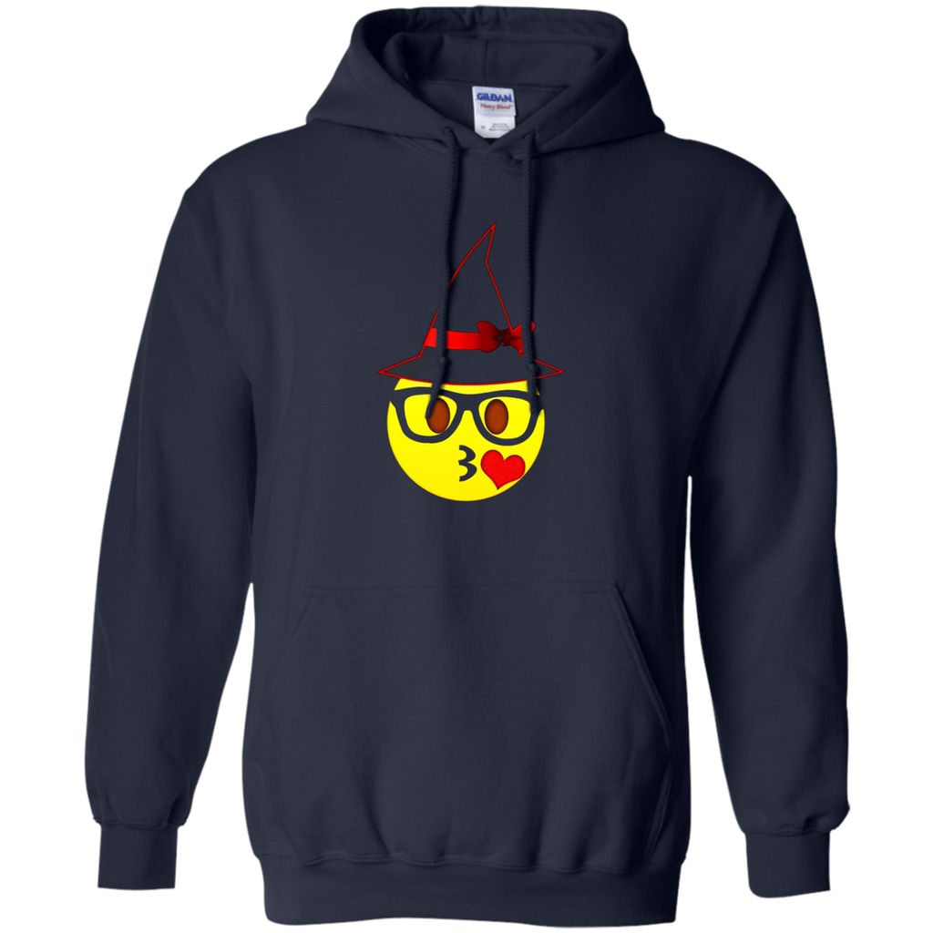 Nerd Emoji Witch Hat Halloween T-Shirt for Girls and Women