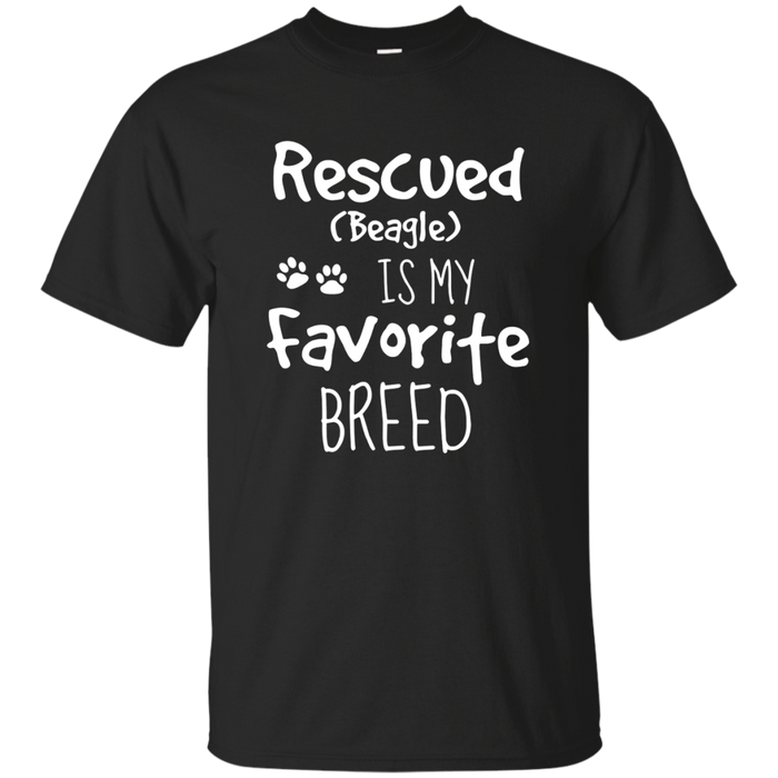 Rescued Is My Favorite Breed Shirt Beagle Dog Animal Rescue