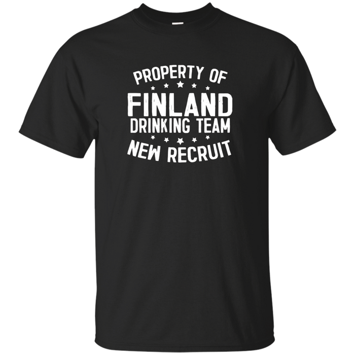 Finland Drinking Team Beer Whiskey Alcohol Novelty T-Shirt