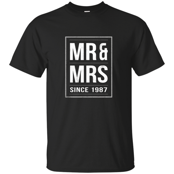 Mr & Mrs Since 1987 - 30th wedding anniversary gift t-shirt