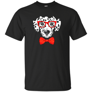 Hipster Dog Dalmatian Wearing Glasses T-shirt, Zany Brainy