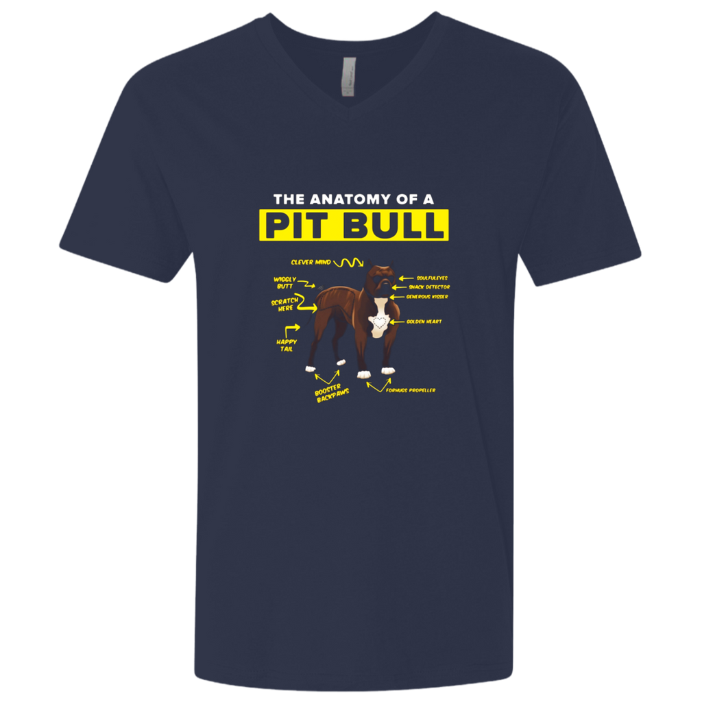 Funny Anatomy of a Pit Bull T-Shirt Dog Lover Gift Shirt