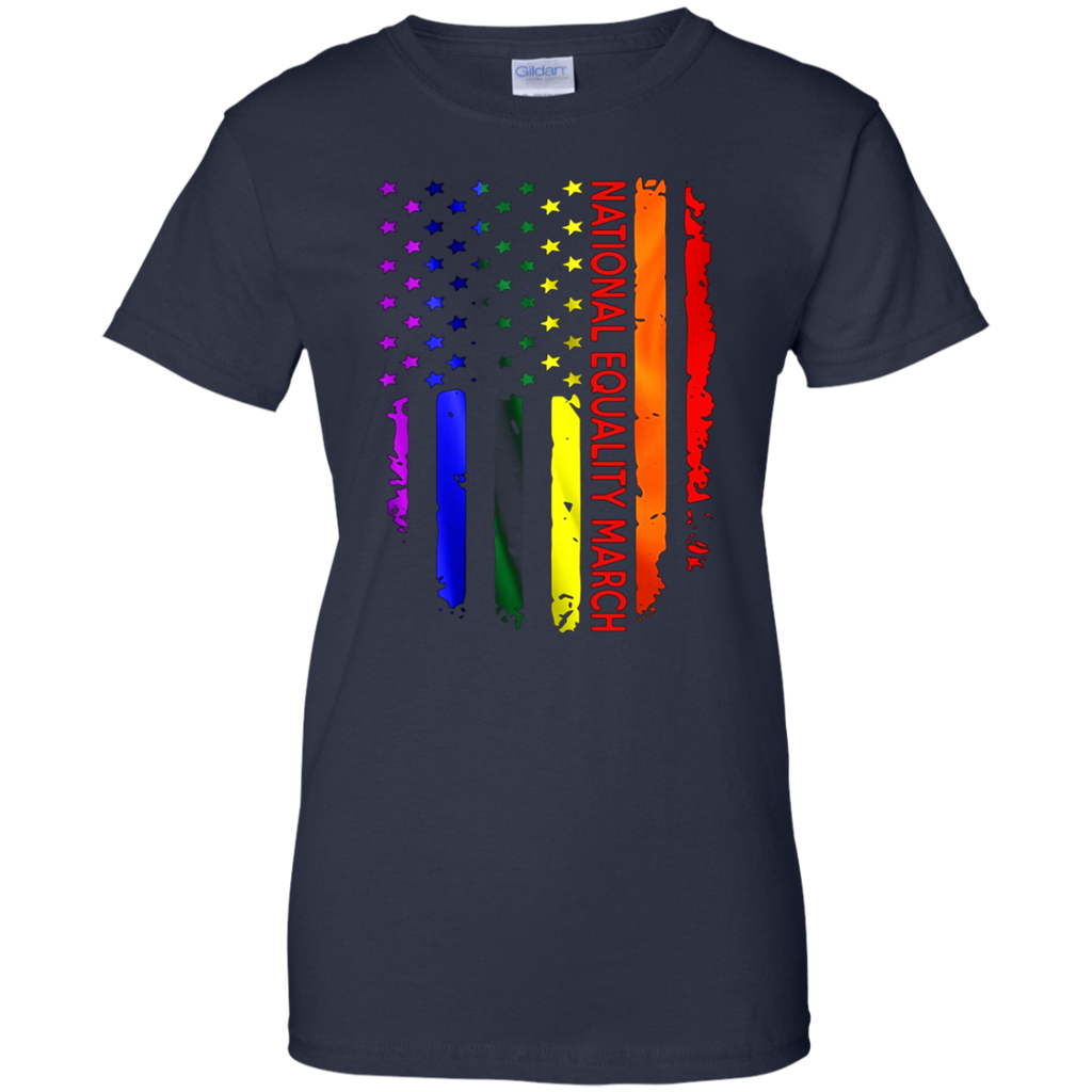 National Equality March Rainbow Flag Shirt June 11 2017