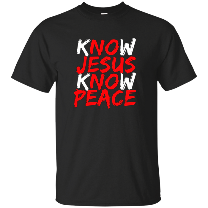 Christian Jesus Bible T Shirt : Know Jesus Know Peace
