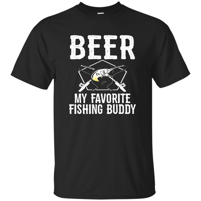 Beer My Favorite Fishing Buddy Funny Drinking T Shirt