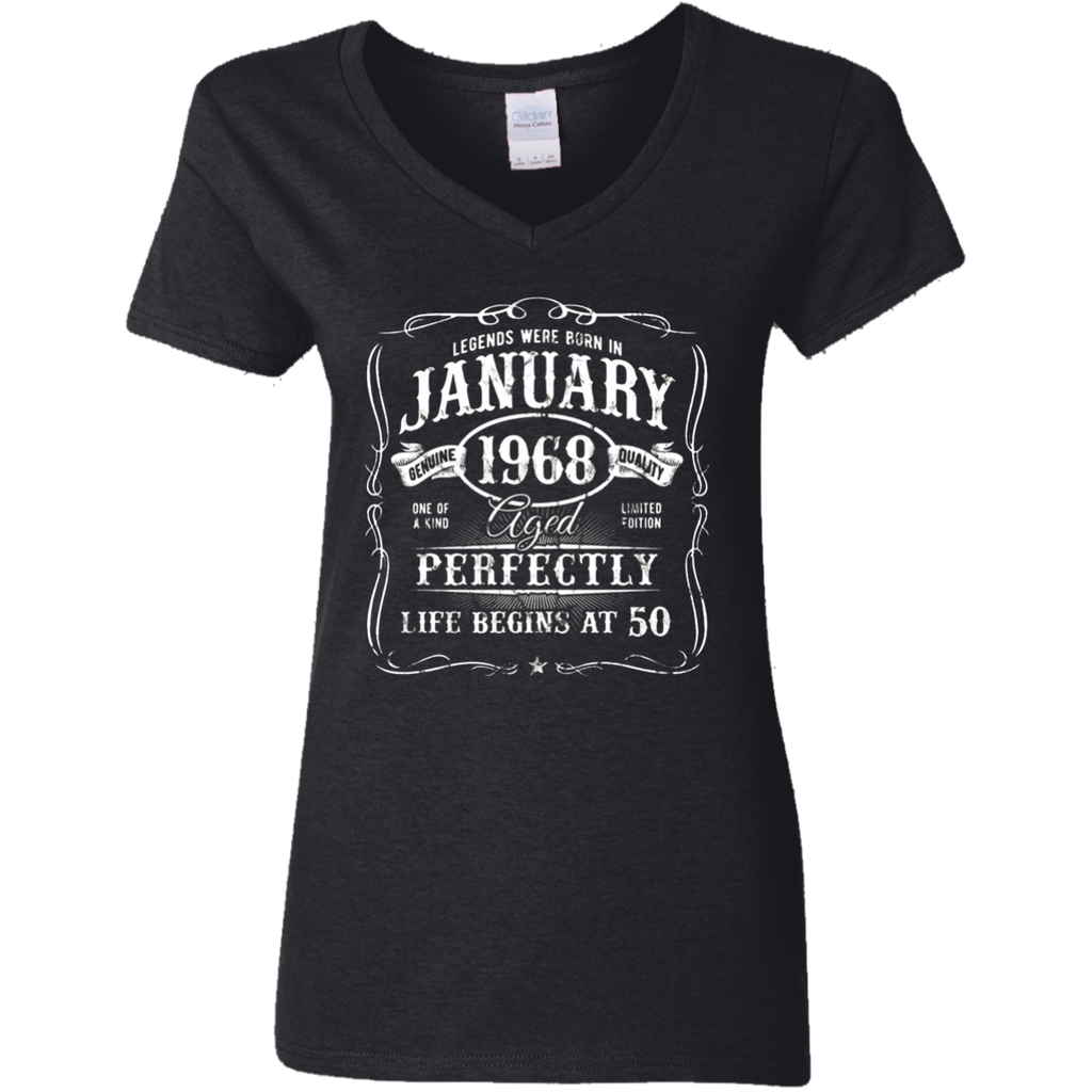 Legends Were Born In January 1968 T-Shirt 50th Birthday