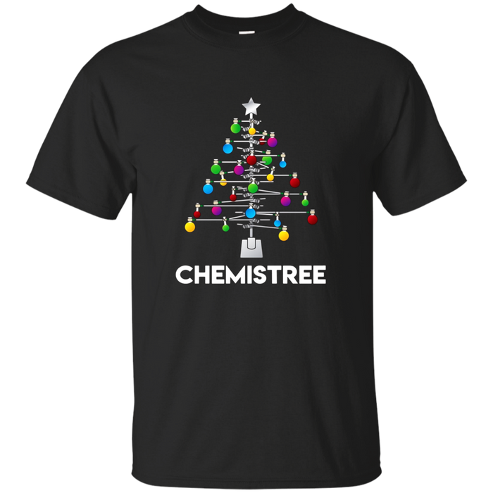 Chemistree T-Shirt Funny Christmas Science Lover Pun Tee