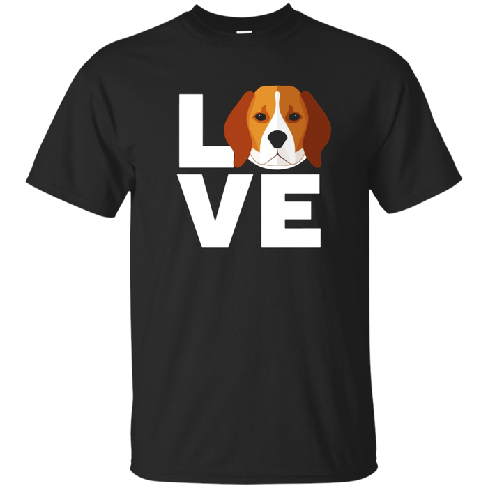 I Love My Beagle Dog Cute T-shirt Gift For Dog Lovers