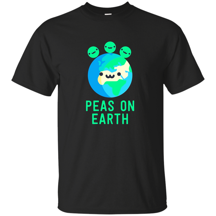 Peas On Earth Funny Christmas Pun Humor Xmas Holiday T-Shirt