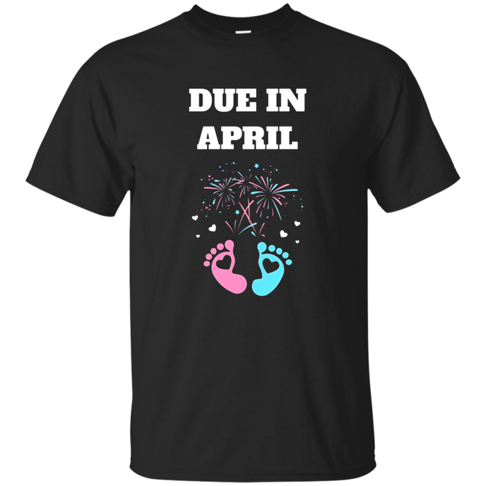 Expecting Moms Baby Gender Neutral due in April Shirt