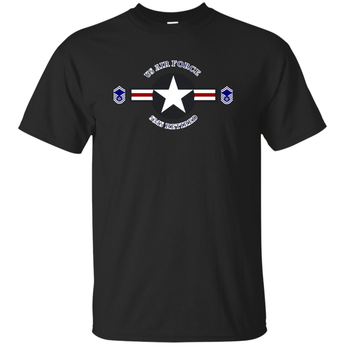AIR FORCE SENIOR MASTER SERGEANT RETIRED ROUNDEL T-SHIRTS