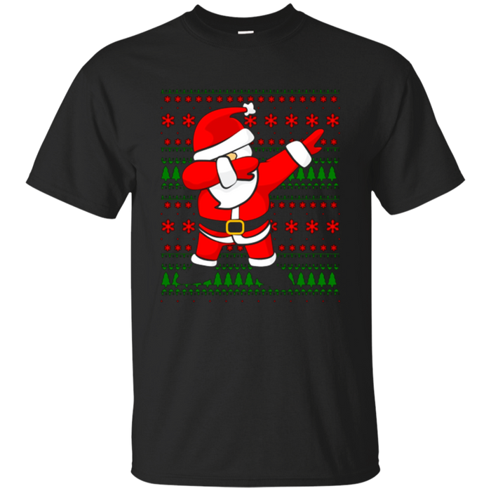 Dabbing Santa Claus Ugly Sweater T-Shirt | Christmas Shirt