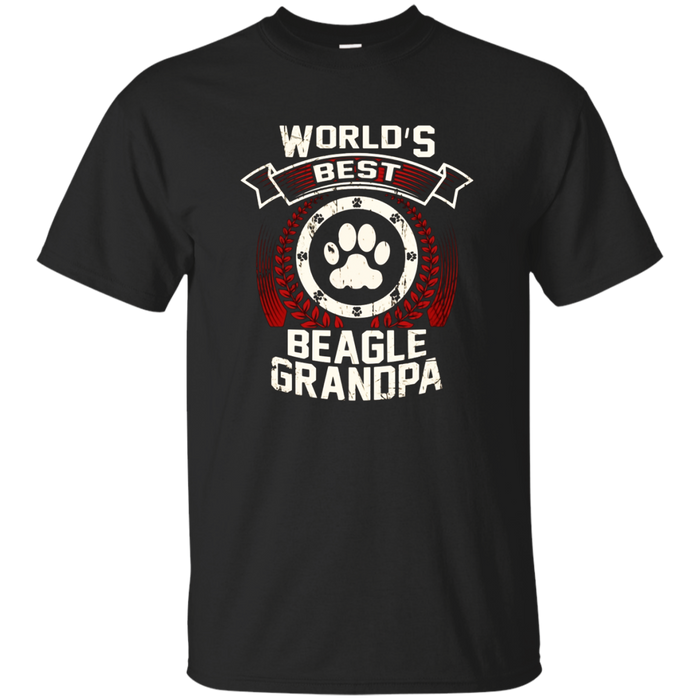 Mens World's Best Beagle Grandpa Graphic T-Shirt
