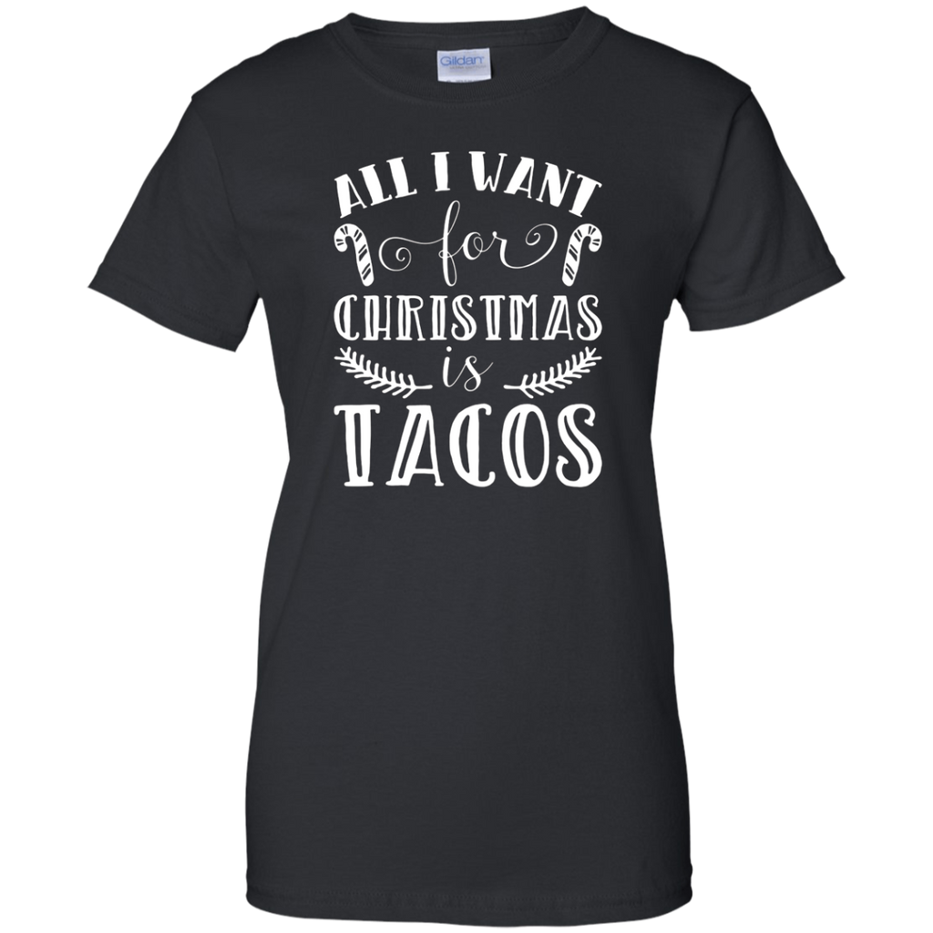 All I Want For Christmas Is Tacos Xmas Presents Pun T-Shirt