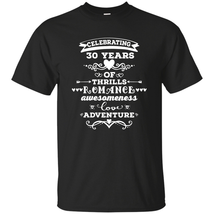 30th Wedding Anniversary T-shirt 30 Years Together Gift