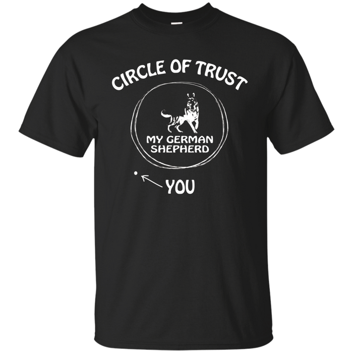 Circle of Trust My German Shepherd Funny T-shirts for Dog lo