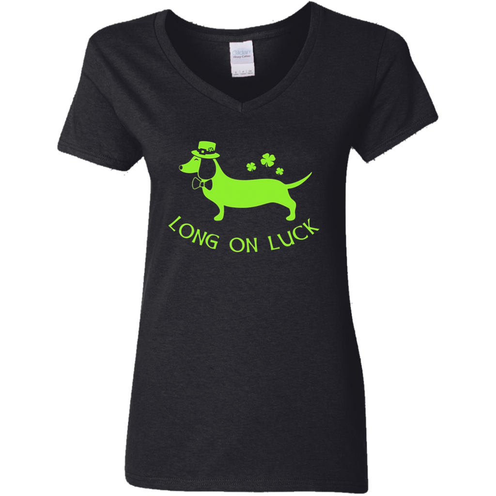 Dachshund Funny Shirt - St. Patrick's Day Irish Long on Luck