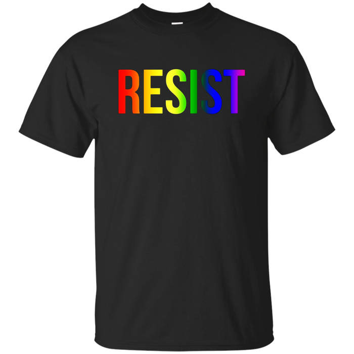 Resist Rainbow Flag Nationa Pride March Shirt for Women Men