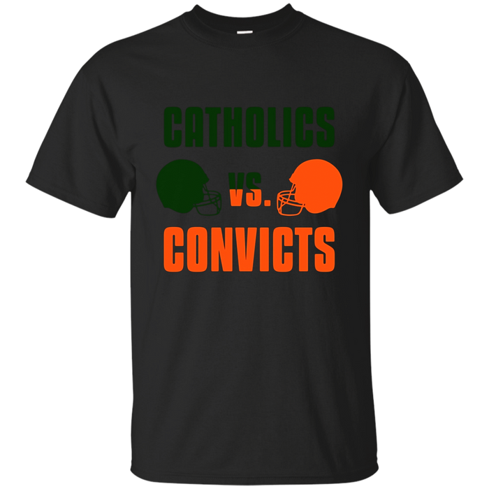 Catholics Vs Convicts T Shirt Classic Vintage Football Tee