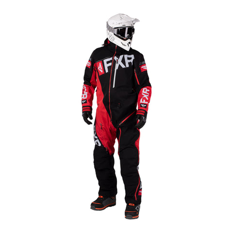 MEN'S FXR RANGE INSTINCT LITE MONOSUIT - SNOWMOBILE - 202821-1020 BLACK RED GRAY