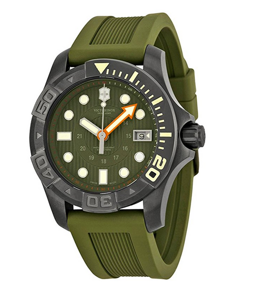 Dark Green Swiss Army Military Dive Watch by Victorinox