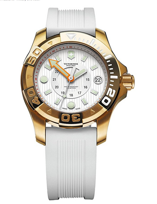 White Swiss Army Military Dive Master 500 Watch by Victorinox