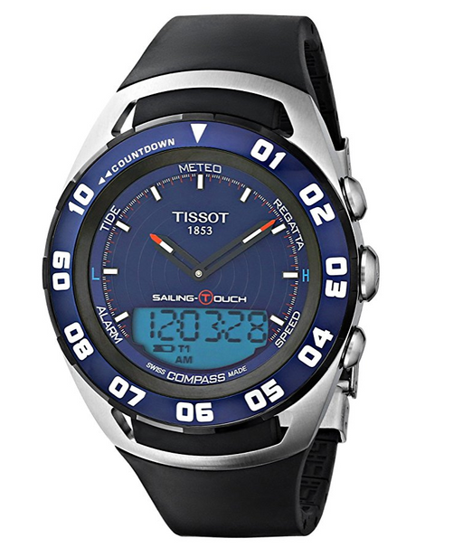 Mens Blue Sailing-Touch Watch by Tissot