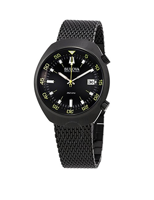 Mens Black Accutron II Watch by Bulova - Lobster