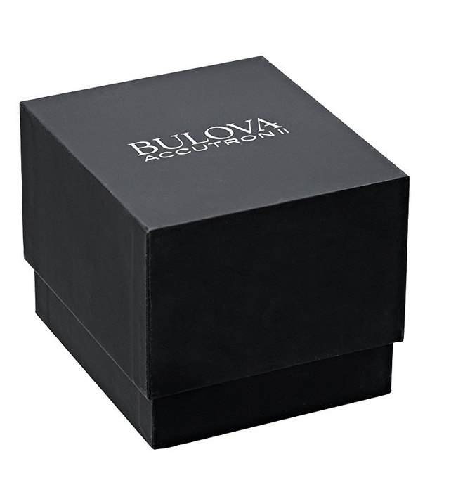 Mens Black Leather Accutron II Watch by Bulova - Alpha Collection
