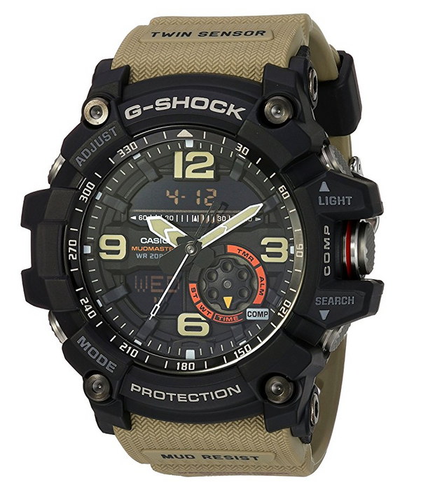 Mens Black and Tan G-Shock Watch by Casio