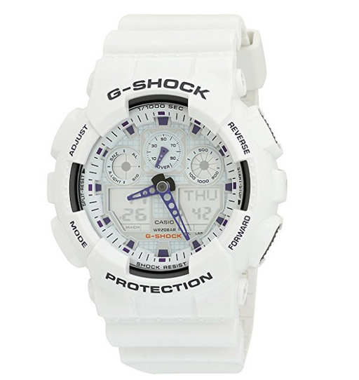 Mens White XL G-Shock Watch by Casio