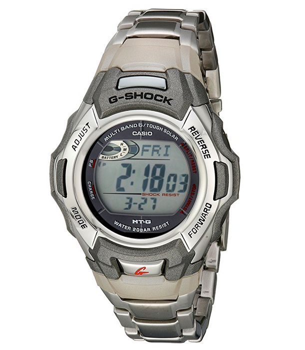 Mens Silver Solar G-Shock Watch by Casio