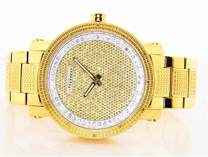 Mens Real Diamond Watch by Jojino - .25 Carats - Iced Out
